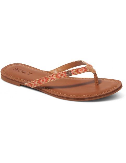 Multi Roxy Carmen Faux Leather Sandals