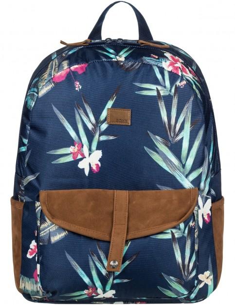 Roxy Carribean Backpack in Dress Blue Isle