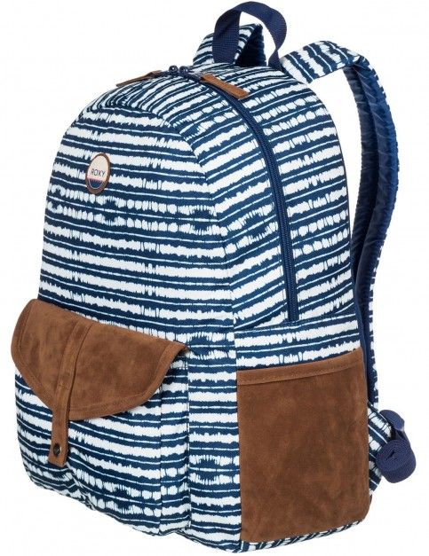 Roxy Carribean Backpack in Blue Depths Olmeque Stripe