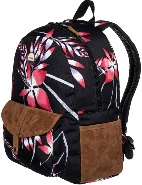 Roxy Carribean Backpack in Anthracite Mystery Floral