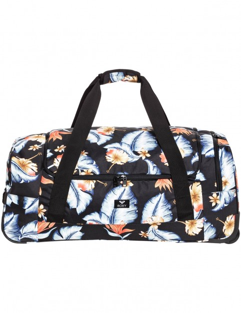 Roxy Distance Across Wheeled Luggage in Anthracite Tropical Love