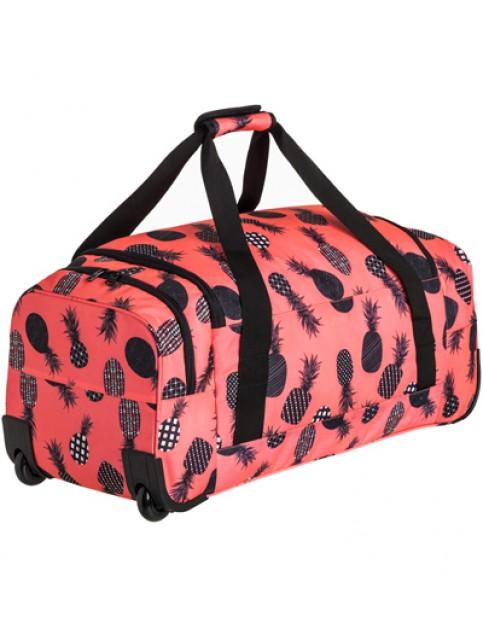Ax Neon Grapefruit Pineapple Dots Roxy Distance Across Wheeled Luggage