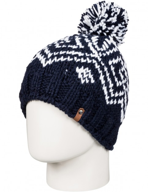 Roxy Djuni Bobble Hat in Peacoat