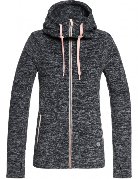 Roxy Electric Feeling Zipped Hoody in Charcoal Heather