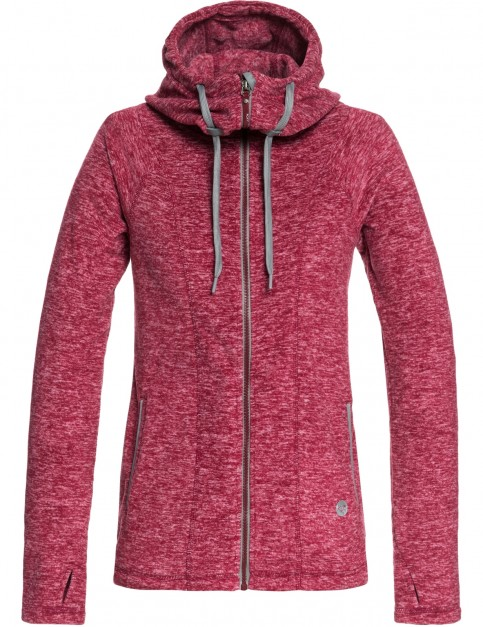 Roxy Electric Feeling Zipped Hoody in Rumba Red