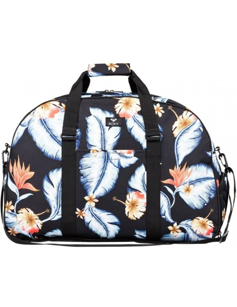 Roxy Feel Happy Big Holdall in Anthracite Tropical Love