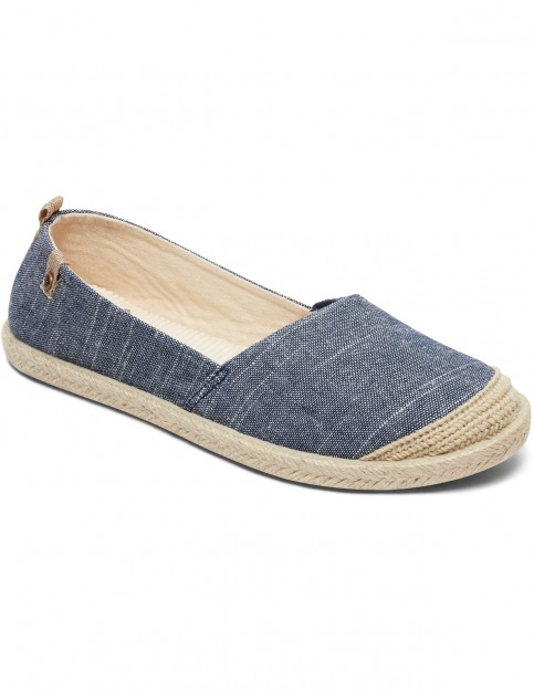 Roxy Flora II Deck Shoes in Denim