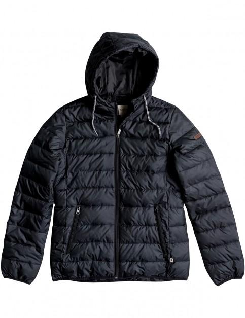Roxy Forever Freely Parka Jacket in True Black