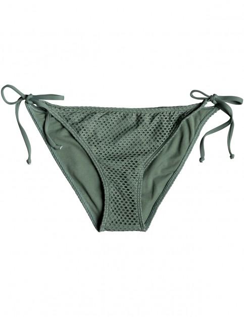 Roxy Garden Summers Tie-Side Bikini Bottoms in Duck Green