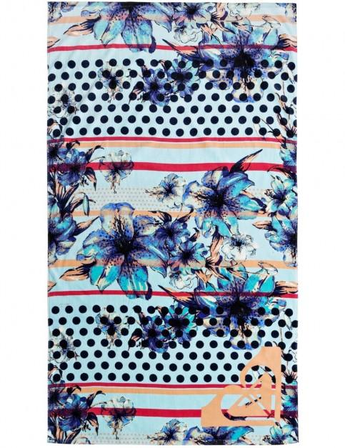 Roxy Hazy Beach Towel in Blue Light Rain Daze