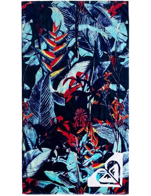 Roxy Hazy Beach Towel in Dress Blue Fantastic Garden