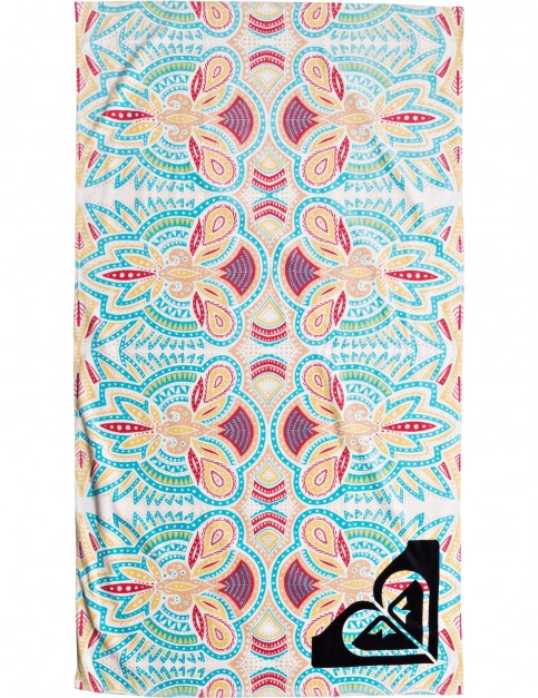 Roxy Hazy Beach Towel in Marshmallow Tribal Vibes