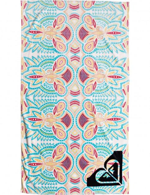 Roxy Hazy Beach Towel in Marshmallow Tribal Vibes
