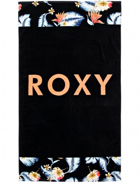 Roxy Hazy Mix Beach Towel in Anthracite Tropical Love