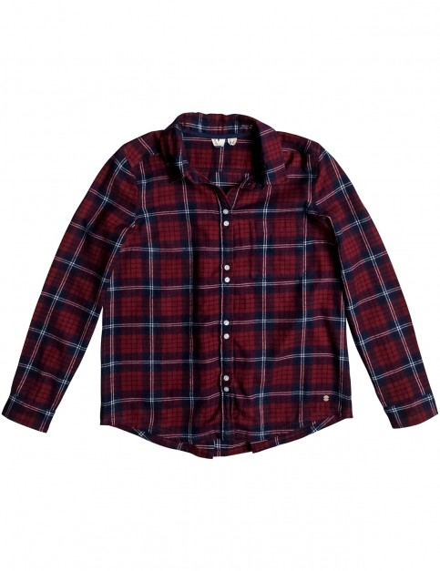 Roxy Heavy Feelings Long Sleeve Shirt in Scotty Plaid