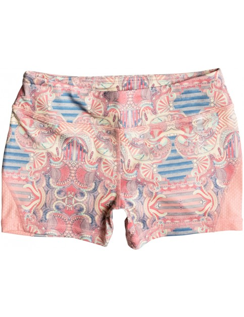 Roxy Imanee Printed Sweat Shorts in Heritage Heather Playground Paradise