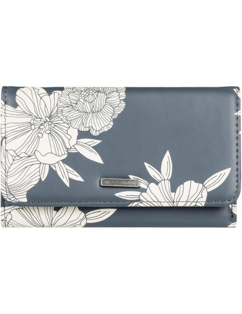 Roxy Juno Printed Faux Leather Wallet in Turbulence Rose and Pearls