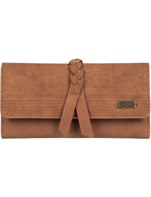 Roxy Just Another Day Faux Leather Wallet in Camel