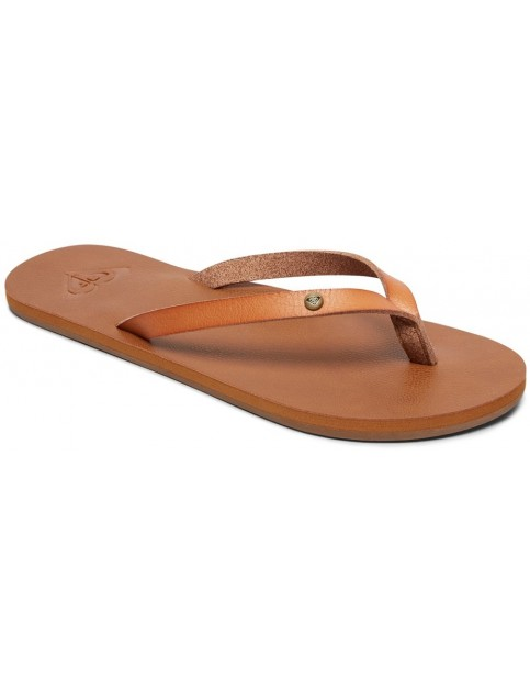 Roxy Jyll II Flip Flops in Tan