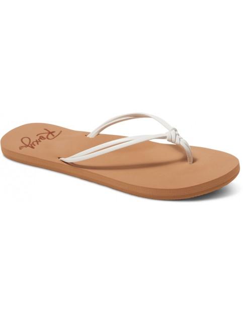 Roxy Lahaina Flip Flops in White