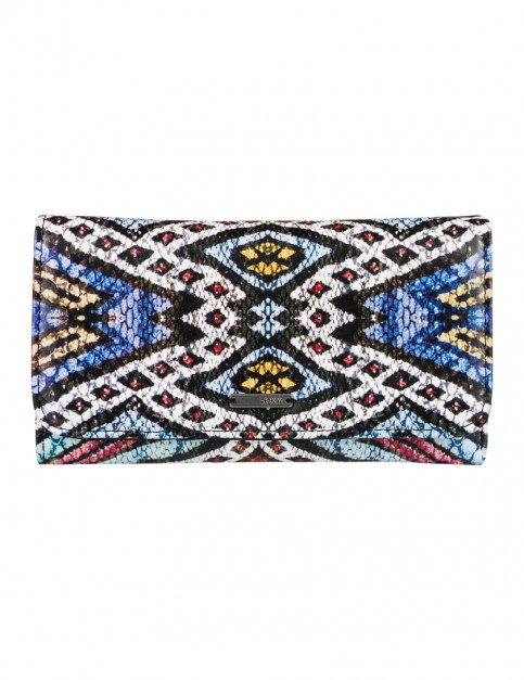 Roxy My Long Eyes Faux Leather Wallet in Regata Soaring Eyes