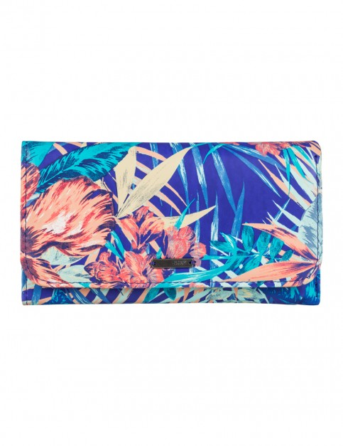 Roxy My Long Eyes Faux Leather Wallet in Royal Blue Beyond Love