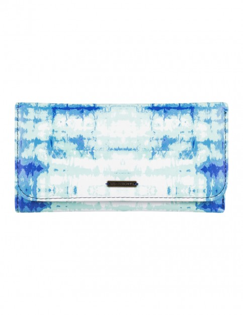 Roxy My Long Eyes Faux Leather Wallet in Marshmallow Antares Tie And Dye