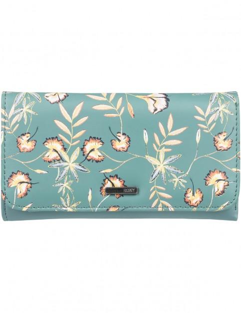 Roxy My Long Eyes Faux Leather Wallet in Trellis Bird Flower