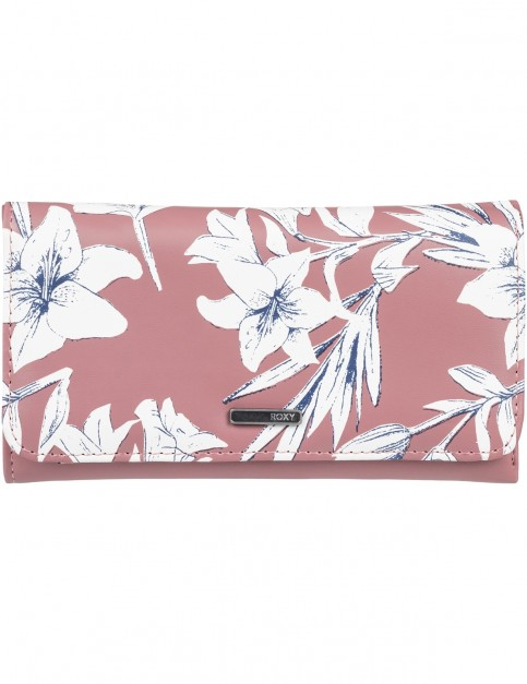 Roxy My Long Eyes Faux Leather Wallet in Withered Rose Lily House