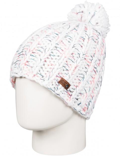 Roxy Nola Bobble Hat in Bright White