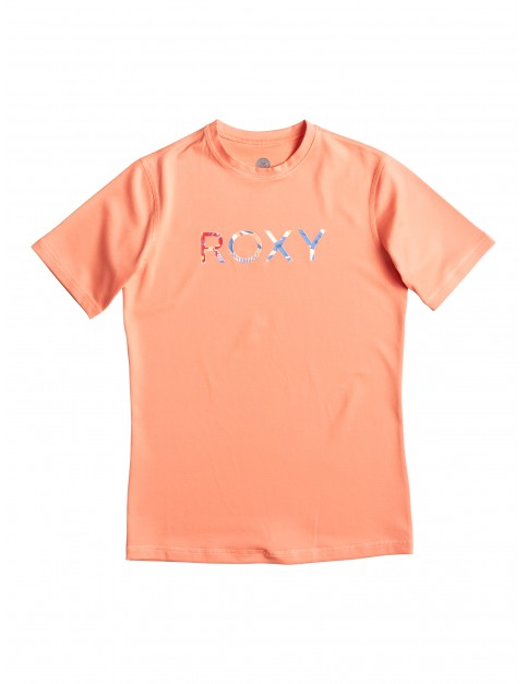 Sunkissed Coral Roxy Palms Away Short Sleeve Rash Vest