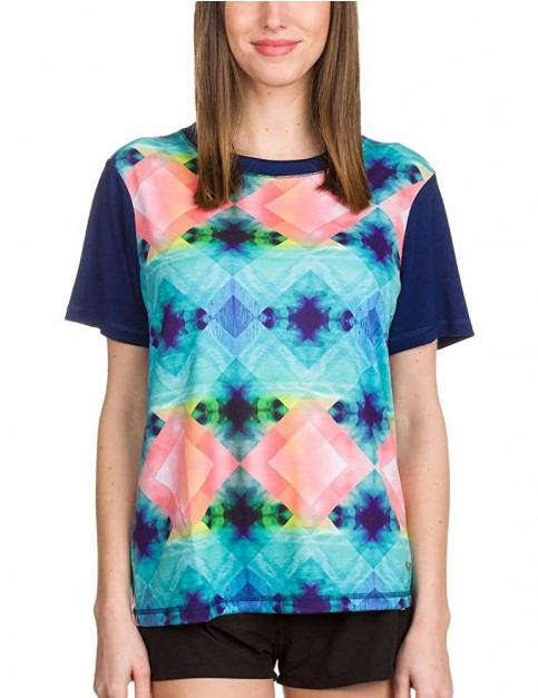 Roxy Pop Surf Short Sleeve Rash Vest in Waterworld