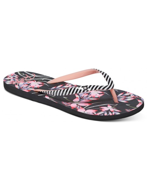 Roxy Portofino Flip Flops in Black Multi