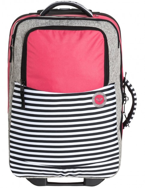 Roxy Roll Up Wheeled Luggage in Heritage Heather