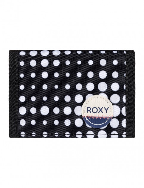 Roxy Small Beach Polyester Wallet in Anthracite Opticity