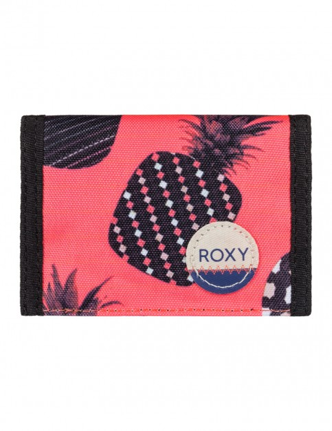 Roxy Small Beach Polyester Wallet in Ax Neon Grapefruit Pineapple Dots