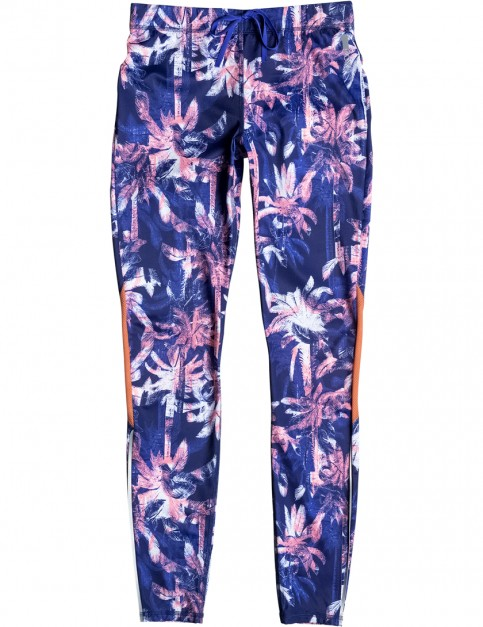 Roxy Stay On Pant 2 Leggings in Blue Depths Washed Palm