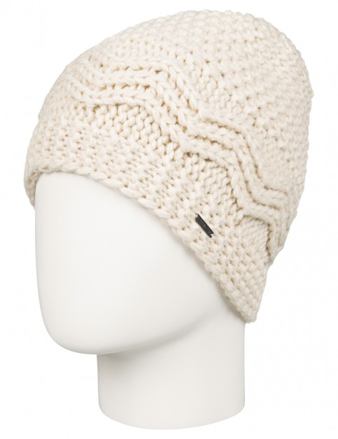 Roxy Stay Out Beanie in Angora