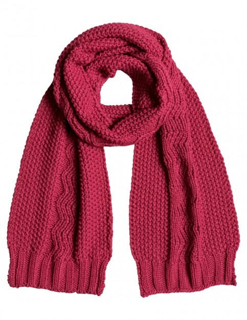 Roxy Stay Out Knitted Scarf in Sangria