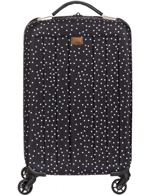 Roxy Stay True J Lugg Wheeled Luggage in True Black Dots For
