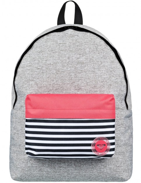 Roxy Sugar Baby Colourblock Backpack in Heritage Heather