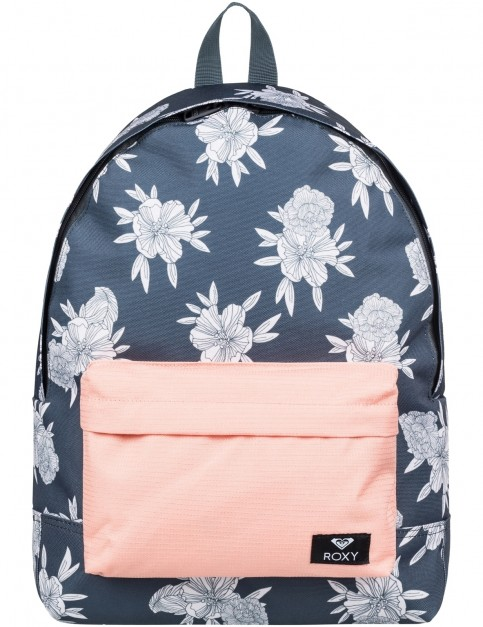 Roxy Sugar Baby Mix Backpack in Turbulence Rose and Pearls