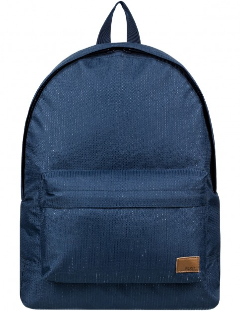 Roxy Sugar Baby Solid Backpack in Dress Blues