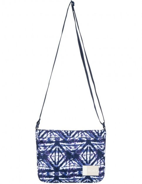 Roxy Sunday Smile Cross Body Bag in Dress Blues Geometric Feeling
