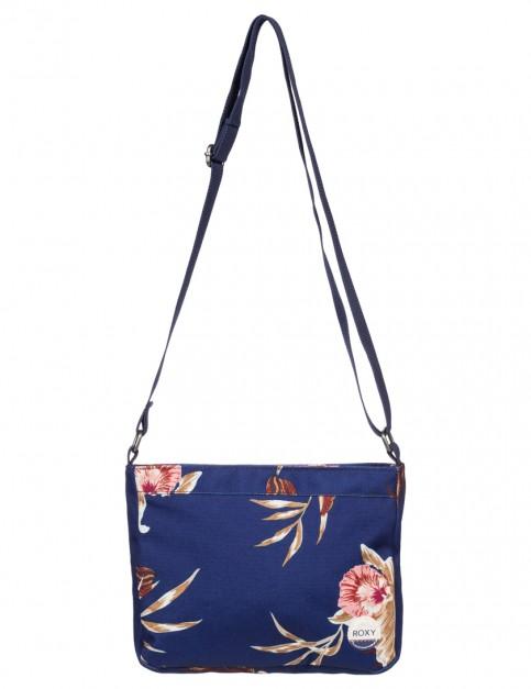 Roxy Sunday Smile Cross Body Bag in Castaway Floral Blue Print