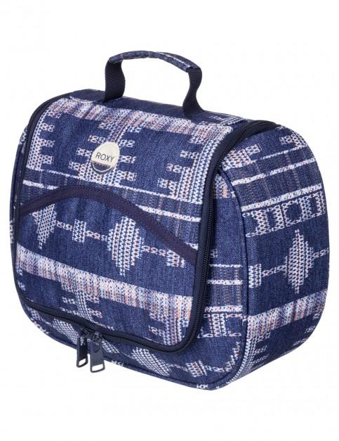 Roxy Sunset Vanity Wash Bag in Akiya Combo Blue Print