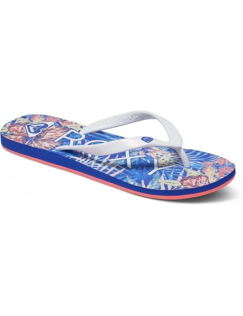 Blue Jay/White Roxy Tahiti V Flip Flops