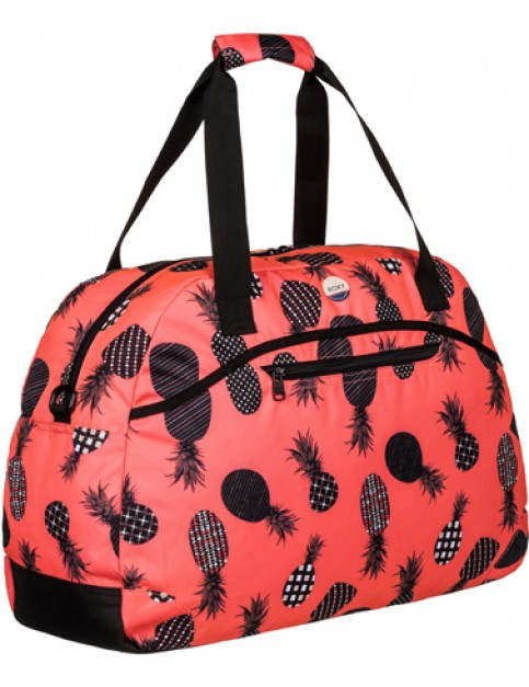Roxy Too Far Holdall in Ax Neon Grapefruit Pineapple Dots