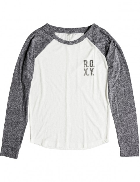 Roxy Trip Party A Long Sleeve T-Shirt in Charcoal Heather