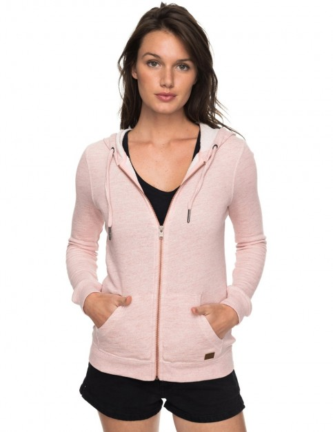 Roxy Trippin Zipped Hoody in Rose Tan Heather